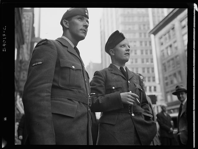 WW2 WWII Library of Congress New York, New York. June 6, 1944. Times Square and vicinity on D-day