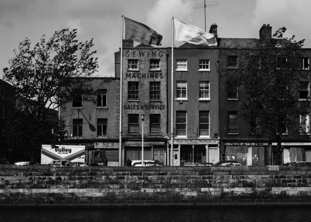 Dublin, Liffey Quays Panorama, detail from pt 5/8 Upper Ormond Quay