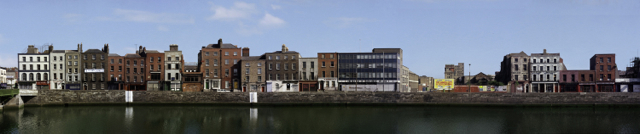 Panorama of Lower Ormond Quay, Dublin