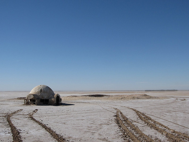 sci fi locations Chott el-Jerid, Lars Homestead (Star Wars)