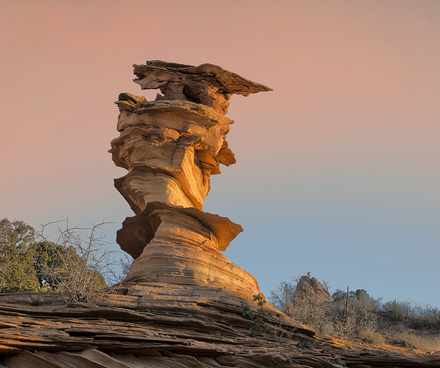 Dali Rock, a.k.a. Control Tower. Coyote Buttes South, Vermilion Cliffs National Monument, Arizona.